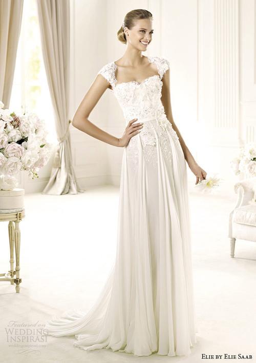 vay cuoi ren 11 Những mẫu váy cưới ren đẹp nhất 2013