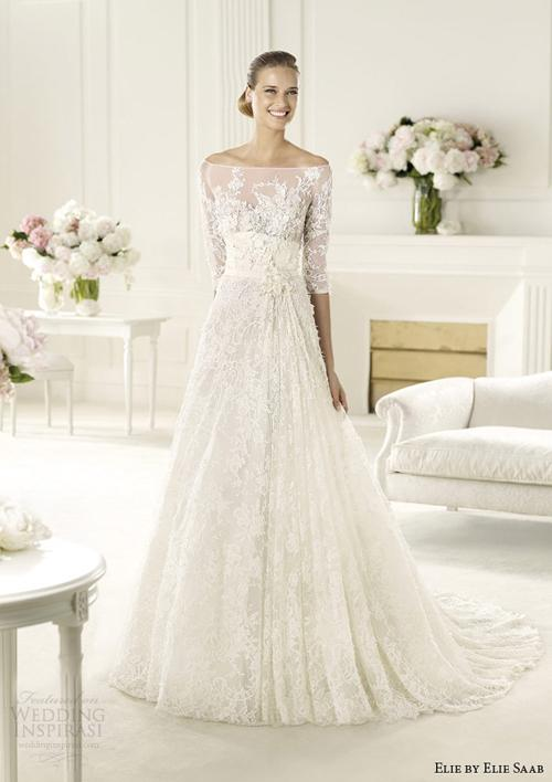vay cuoi ren 12 Những mẫu váy cưới ren đẹp nhất 2013