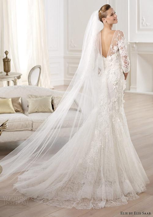vay cuoi ren 4 Những mẫu váy cưới ren đẹp nhất 2013