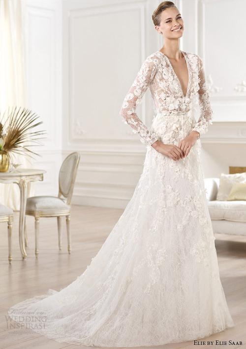 vay cuoi ren 5 Những mẫu váy cưới ren đẹp nhất 2013