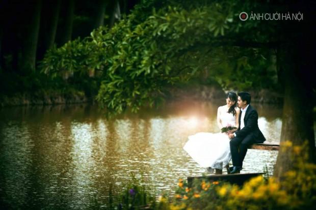 anh cuoi lang man 4 620x413 Ảnh cưới lãng mạn đẹp tự nhiên