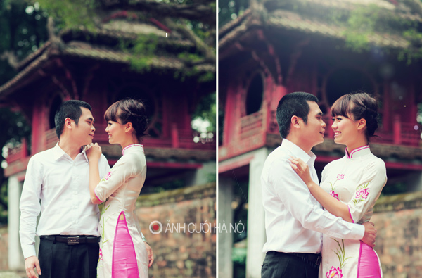 ao dai cuoi dep 4 Áo dài cưới   nét đẹp truyền thống của Việt Nam