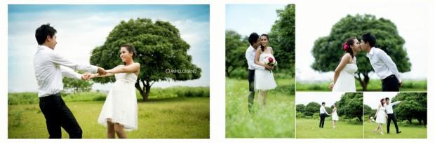 tao dang chup anh cuoi 4 620x204 Tạo dáng chụp ảnh cưới đẹp và tự nhiên