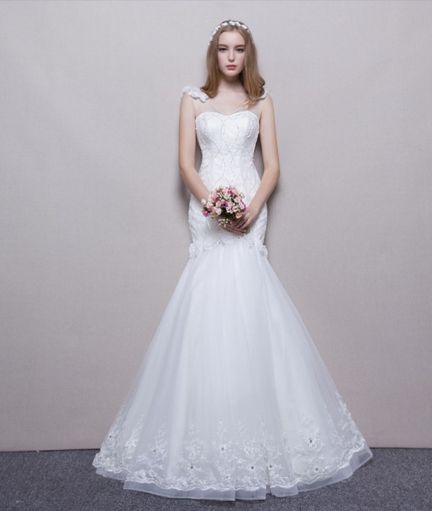 cac dan vay cuoi don gian cho co dau 2016 620x734 Các dáng váy cưới đơn giản cho cô dâu