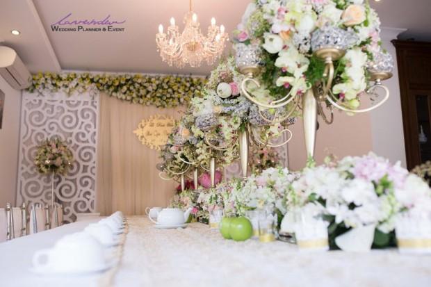 trang tri tiec cuoi tron goi o tphcm 620x413 Trang trí tiệc cưới tại nhà cho các cặp cô dâu chú rể ở TPHCM