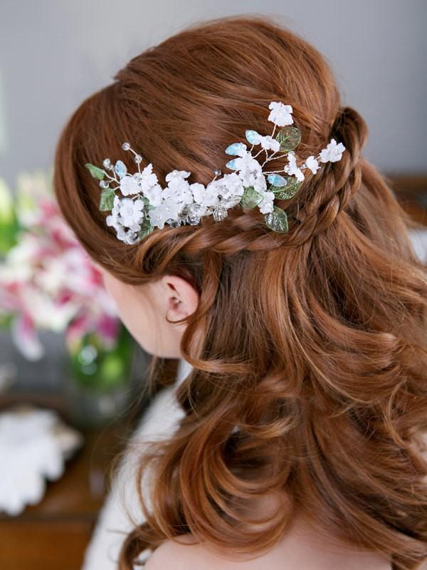 trang diem co dau xinh Cùng điểm danh 4 kiểu tóc cưới chưa bao giờ hạ nhiệt.