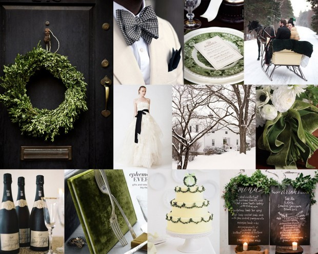 trang tri cuoi tong xanh 620x497 Mang không khí noel vào tiệc cưới cuối năm của bạn.