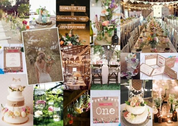 trang tri tiec cuoi dep1 620x437 Những điều cần biết về phong cách tiệc cưới rustic.