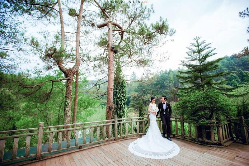 Phim trường chụp hình cưới tại Đà Lạt