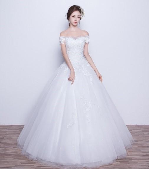 mau vay cuoi dep 2019 2 Những mẫu váy cưới đẹp 2019 cho cô dâu gầy